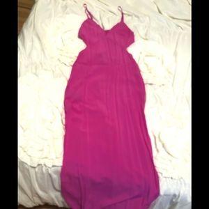 Dresses & Skirts - Pink cut-out maxi dress